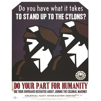 Battlestar Galactica Bsg Propaganda Do Your Part poster Metal Sign Wall Art 8in x 12in