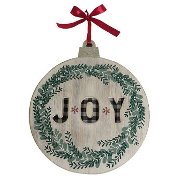 makers holiday christmas ornament wall decor joy joann - Joann Fabrics Christmas Decorations