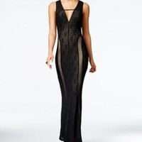 GUESS Josefina Sleeveless Lace Maxi Dress | macys.com