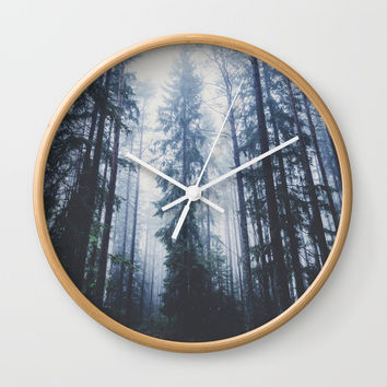 The mighty pines Wall Clock by happymelvin
