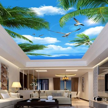 Living Room Ceiling  of the Beautiful Blue Beach Sky