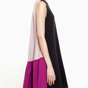 ROKSANDA | Colour Block Dress with Frill | brownsfashion.com | The Finest Edit of Luxury Fashion | Clothes, Shoes, Bags and Accessories for Men & Women