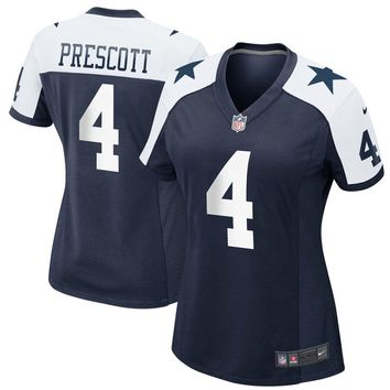 Women's Dallas Cowboys Dak Prescott Nike Navy Alternate Game Jersey