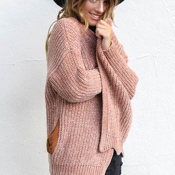 Too Good Mauve Knit Sweater Cardigan