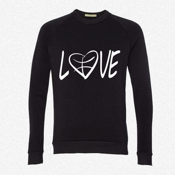 love basketball fleece crewneck sweatshirt