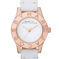 MARC BY MARC JACOBS 'Blade' Round Leather Strap Watch | Nordstrom