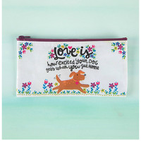 Natural Life Zipper Bag - Love Is