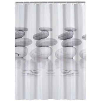 Waterproof Stone Plants Design Bathing Shower Curtains