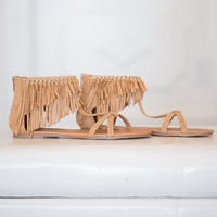 Here Comes the Sun Toffee Sandals