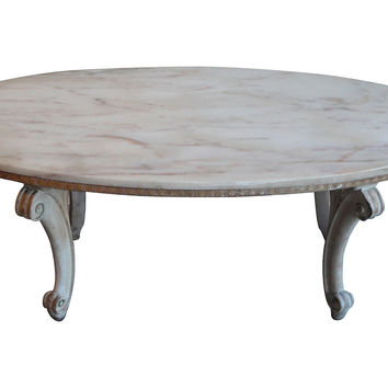 Italian Pink Marble Coffee Table