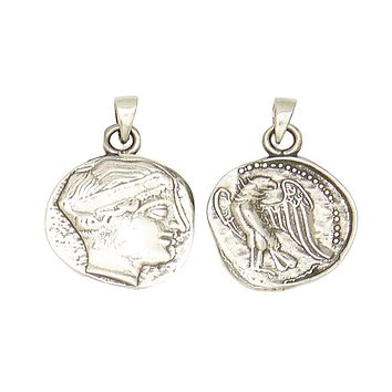Hera Juno Goddess of Childbirth and Marriage Pewter Pendant Charm Unisex Necklace 1H