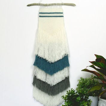 Hand Woven Tapestry Fiber Art, Hand Woven Wall Decor, Rustic Tapestry, Hand Woven Wall Hanging, Handwoven Wall Art, fringed wall hanging,