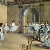 The Dance Foyer at the Opera on the Rue Le Peletier Stampe di Edgar Degas su AllPosters.it