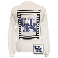 SALE UK Kentucky Wildcats Preppy Glitter Logo Girlie Long Sleeves T Shirt