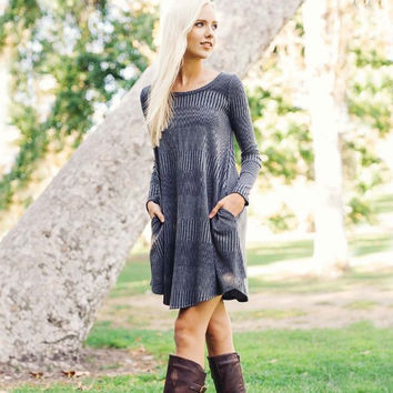 Autumn Dust Dress in Gray