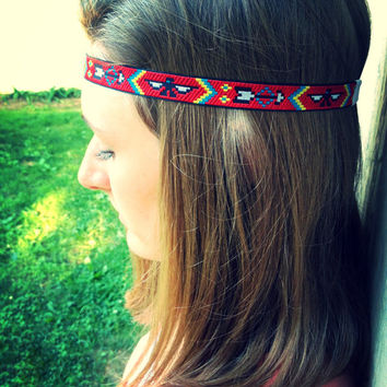Native American Eagle and Arrow Reversible Headband
