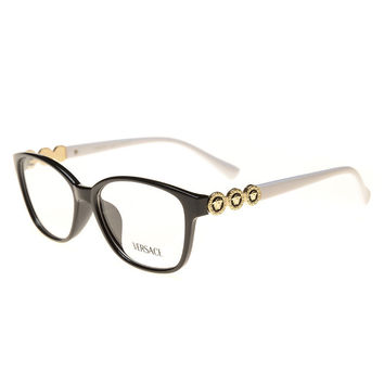 Perfect Versace Women Edgy Optical Clear Lens Fashion Brand Designer Eyeglasses Glasses