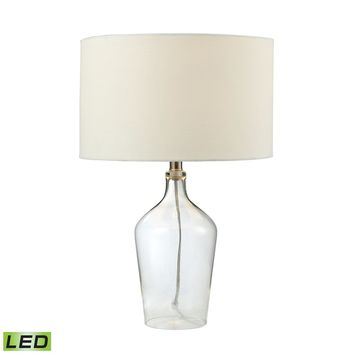 D2695-LED Hideaway Clear Glass LED Table Lamp