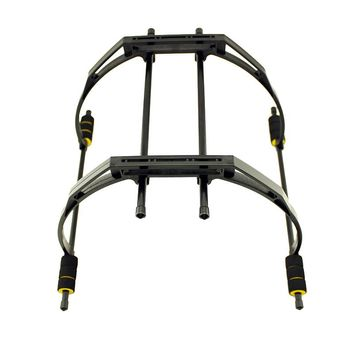 F450 F550 Frame Landing Gear Landing Skid FPV Aerial Photography Gimbal Damping Tall Foot Stool-black