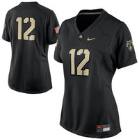 Women's Nike No. 12 Black Army Black Knights Game Jersey