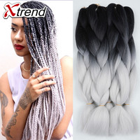 "OPAL FERRIE - 24"" 100g Ombre Kanekalon Braiding Hair Extentions"