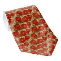Red Cactus Flower Tie