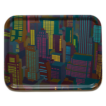 Cities Large Cocktail Tray - Evening by Yoni Alter