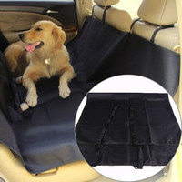 Black Washable Waterproof Pet Dog Cat Rear Back Seat Cover Pet car Mats for Car Vehicle Anti-dirty