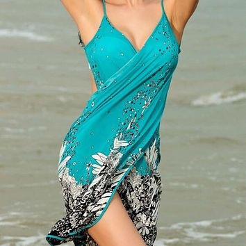 Women Beach Dress Sexy Sarong Bikini Cover Up Dress Beach Dress Bathing Suit Beach Shawl