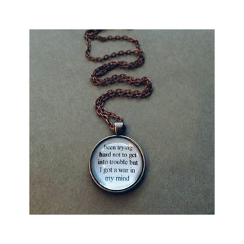 Ride lyric quote necklace- lana del rey lyric quote necklace