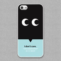 iPhone 4 / 4s Case - I don't care, Speech bubble, iPhone4 Case, Cases for iPhone4, iPhone4s Case, Cases for iPhone4s