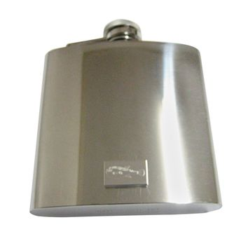 Silver Toned Etched Puffer Fish 6 Oz. Stainless Steel Flask