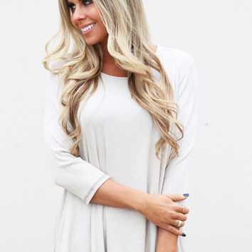 Ready Set Basic Tunic {Oatmeal}