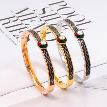 GUCCI Women Fashion Plated Bracelet
