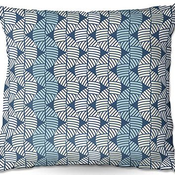 Decorative Outdoor Patio Couch Throw Pillows from DiaNoche Designs by Julia Grifol Waves On Blue BBQ Garden Outdoor Ideas