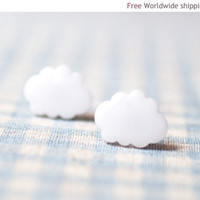 White Cloud earrings   (E046)