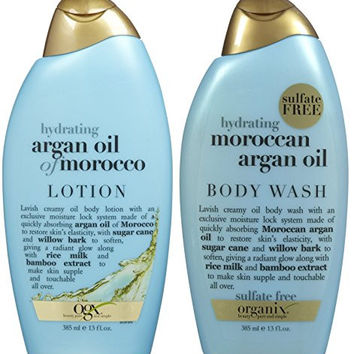 OGX Hydrating Argan Oil of Morocco, DUO Set Body Wash + Lotion, 13 Ounce, 1 Each
