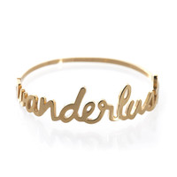 Wanderlust Gold Bangle