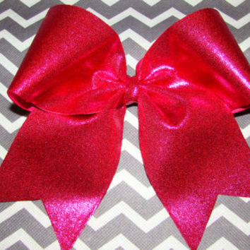 Pink Mystic Cheer Bow by isparklethat on Etsy