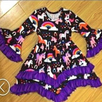 Adorable Girls Unicorn Dress