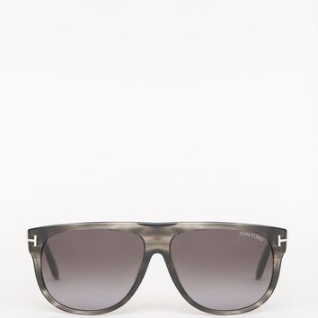 Kristen Sunglasses in White/Brown