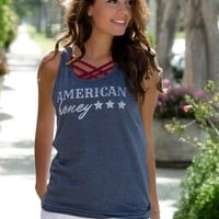 American Honey Navy Tank Top Shop Simply Me Boutique Shop SMB Naples FL – Simply Me Boutique