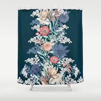 Pained Floral Placement Shower Curtain by Gemma Hodgson Design