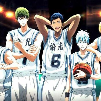 Home Decor Canvas Fabric Cloth Poster for family decoration Kuroko no basket Team Midorima poster mural bathroom mirror decals