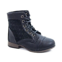 Chapter30K By Link, Kids Casual Chic Crochet Bootie Lace-Up Round Toe New Shoe