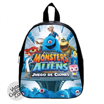 Monsters vs aliens New Hot School Bag Backpack