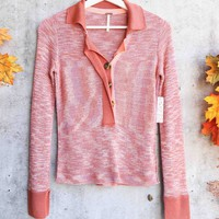 Free People - Making Memories Henley Top - Terracotta