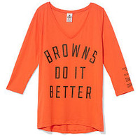 Cleveland Browns V-neck Tee - PINK - Victoria's Secret
