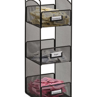 Safco Home Office Products Onyx Mesh Tower Break Room Organizer, Black-Bl