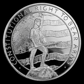 5 oz Silver Round - Second Amendment (Right to Bear Arms)